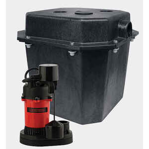 Red Lion  1/3 hp 3200 gph Thermoplastic  Submersible Basin and Sump System