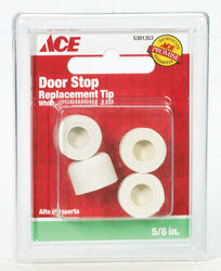 Ace  .75 in. H x 5/8 in. W Rubber  White  Door Stop Tip  Over the door clip