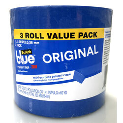 ScotchBlue  1.41 in. W Blue  Medium Strength  Original Painter's Tape  3 pk