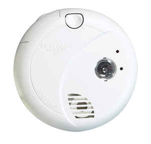 First Alert  Hard-Wired with Battery Back-up  Photoelectric  Smoke Alarm with Escape Light
