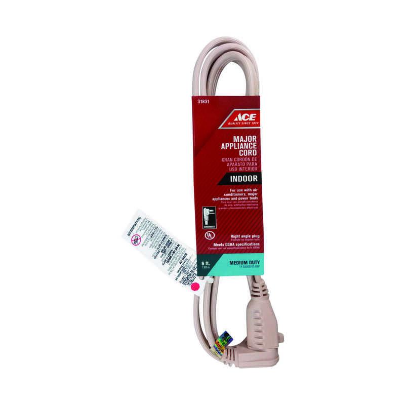 Ace 14/3 SPT-3 125 Volt 6 Ft. L Appliance Cord
