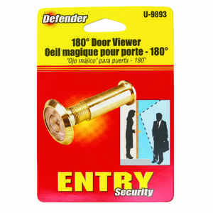 Prime-Line  0.56 in. Dia. 180 deg. Polished Brass  Brass  Door Viewer