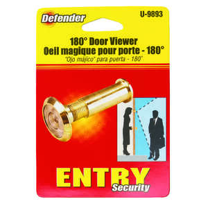 Prime-Line Door Viewer 9/16 in. 5.43 in. x 3.18 in. x 1.25 in. Brass 9/16 in. Solid Brass Use on Thi