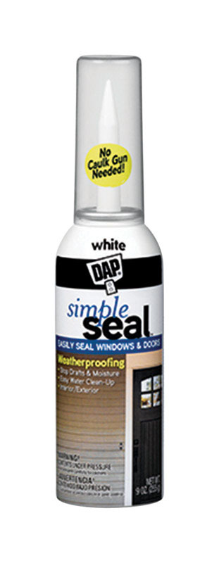 Simple Seal  White  Latex  9 oz. Adhesive Caulk