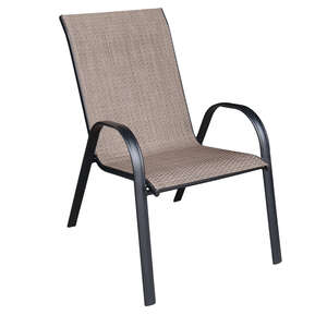 Living Accents  Sling  Black  Steel  Chair