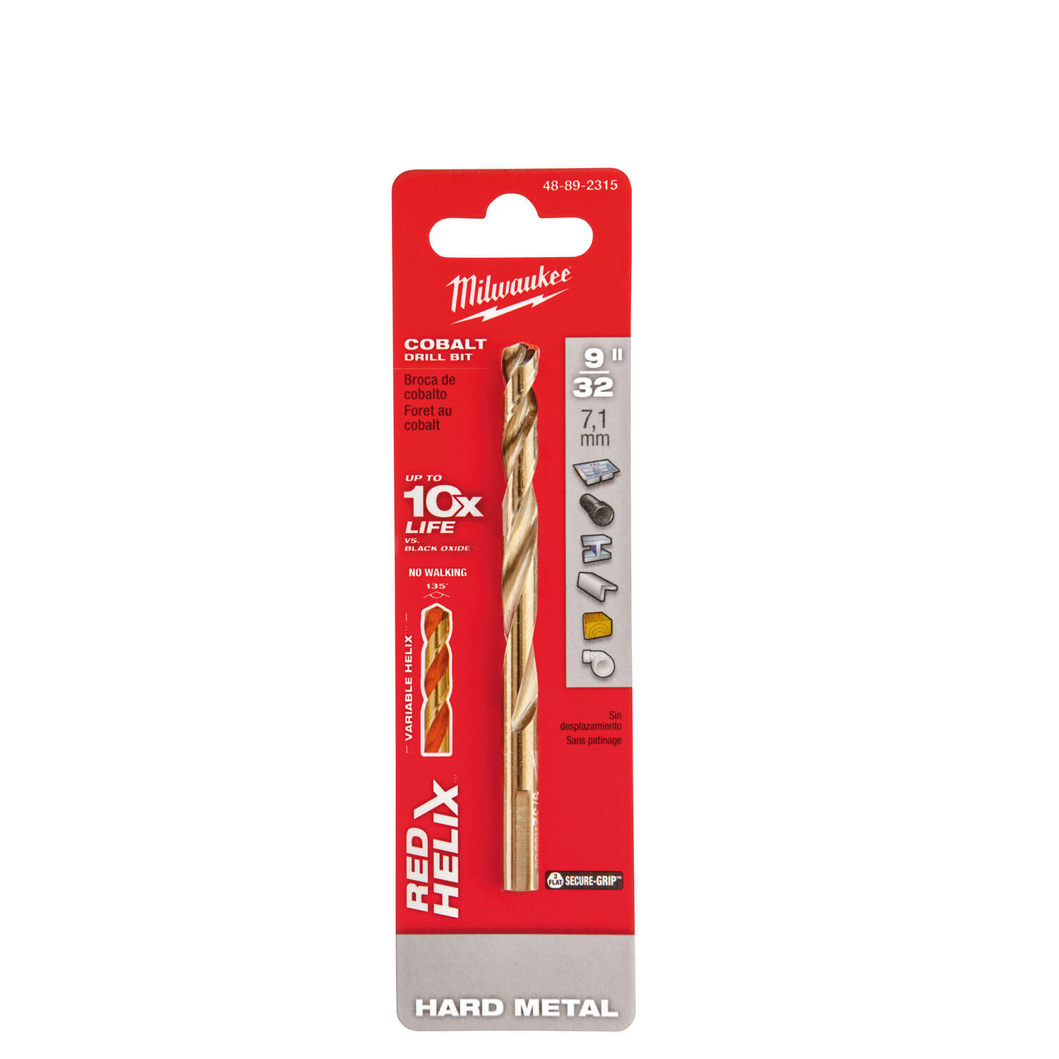 Milwaukee  RED HELIX  9/32 in.  x 4-5/16 in. L Cobalt Steel  THUNDERBOLT  Drill Bit  1 pc.