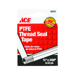Ace White 300 in. L x 3/4 in. W Thread Seal Tape 0.05 oz.