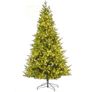 Celebrations Home  7 ft. Warm White  Prelit Frasier Invisible Wire  Fir Tree  1200 lights