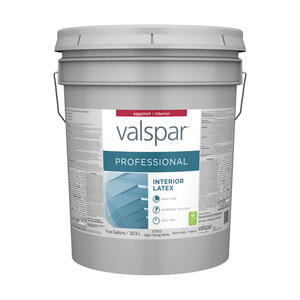 Valspar  Professional  Eggshell  Basic White  Acrylic Latex  Paint  5 gal.
