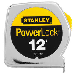 Stanley  PowerLock  12 ft. L x 0.5 in. W Tape Measure  1 pk