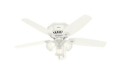 Hunter Fan  Builder Low Profile  52 in. Snow White  Indoor  Ceiling Fan