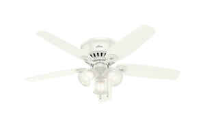 Hunter Fan  Builder Low Profile  52 in. 5 blade Indoor  Snow White  Ceiling Fan
