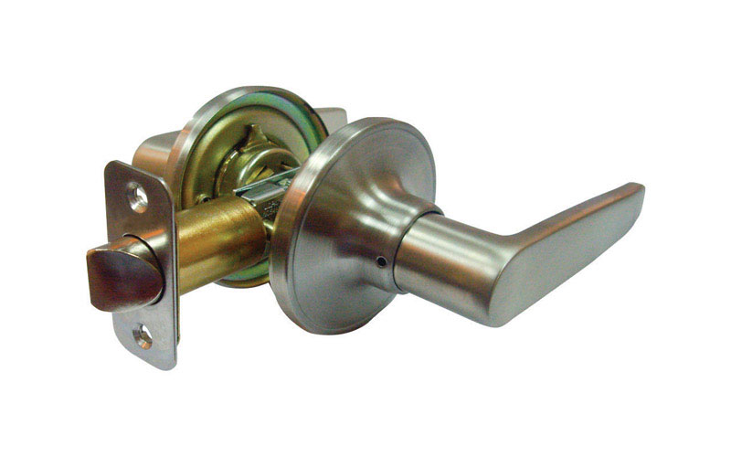 Faultless  Olympic Lever  Satin Stainless Steel  Metal  Passage Lever  3 Grade Right Handed