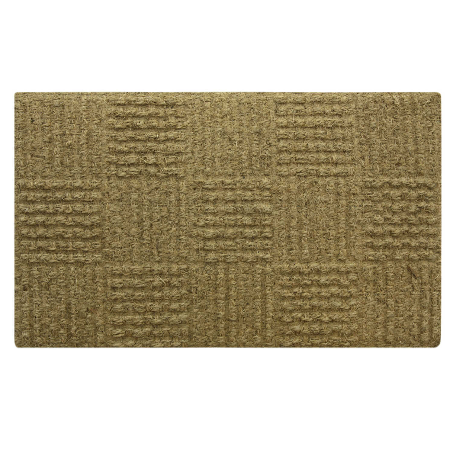 Bacova  Brown  Coir  Door Mat  30 in. L x 18 in. W