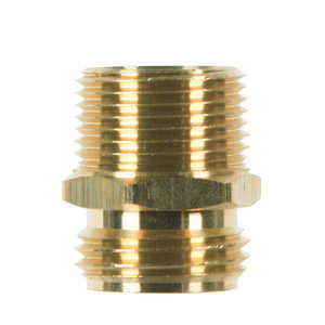 JMF  Brass  Male Hose Adapter  3/4 in. Dia. x 3/4 in. Dia. Yellow  1 pk