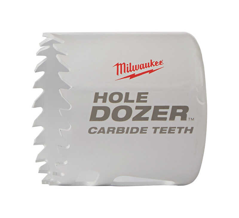 Milwaukee  Hole Dozer  1-7/8 in. Dia. x 1-7/8 in. L Carbide Tipped  Hole Saw  1/4 in. 1 pc.
