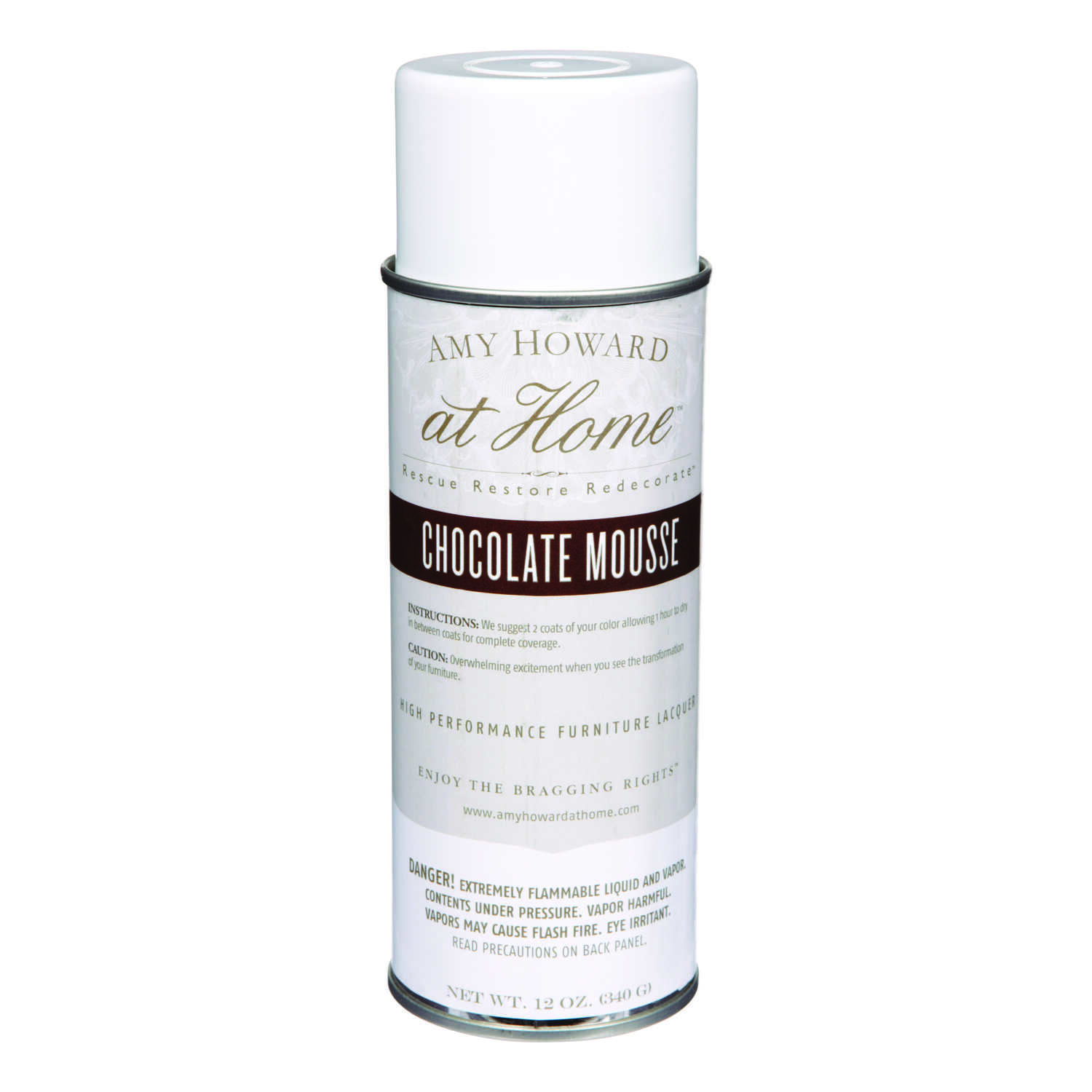 Amy Howard at Home  Gloss  Chocolate Mousse  High Performance Furniture Lacquer Spray  12 oz.