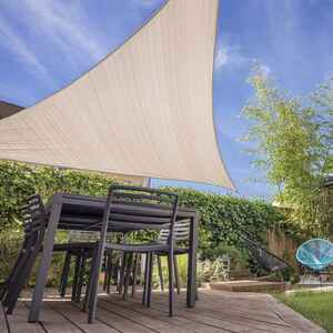 Coolaroo  Ready-To-Hang  Polyethylene  Triangle Shade Sail Canopy  16.5 ft. W x 16.5 ft. L