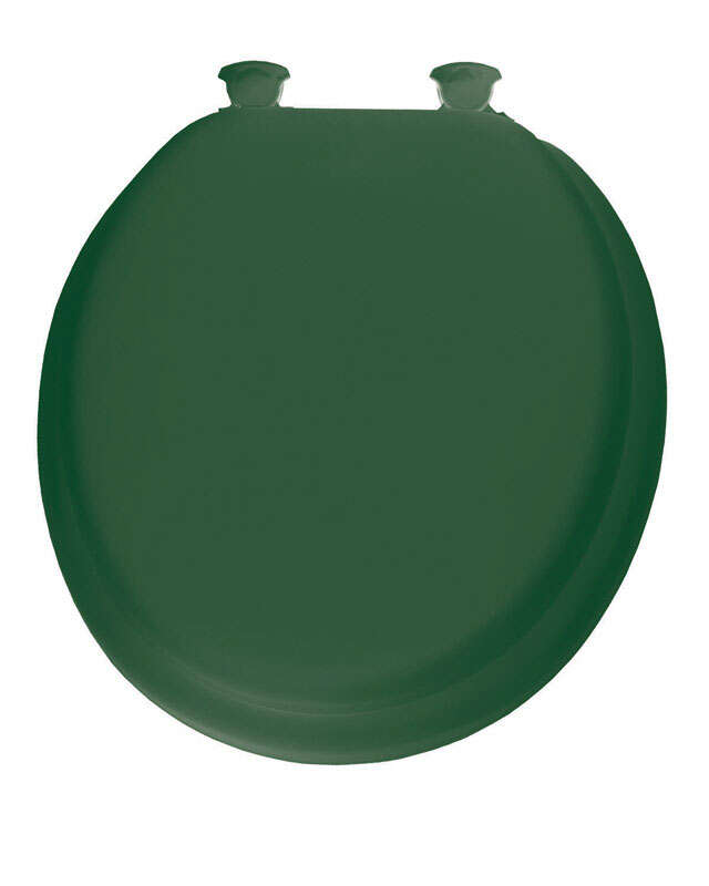 Mayfair  Round  Rain Forest Green  Vinyl  Cushioned Toilet Seat
