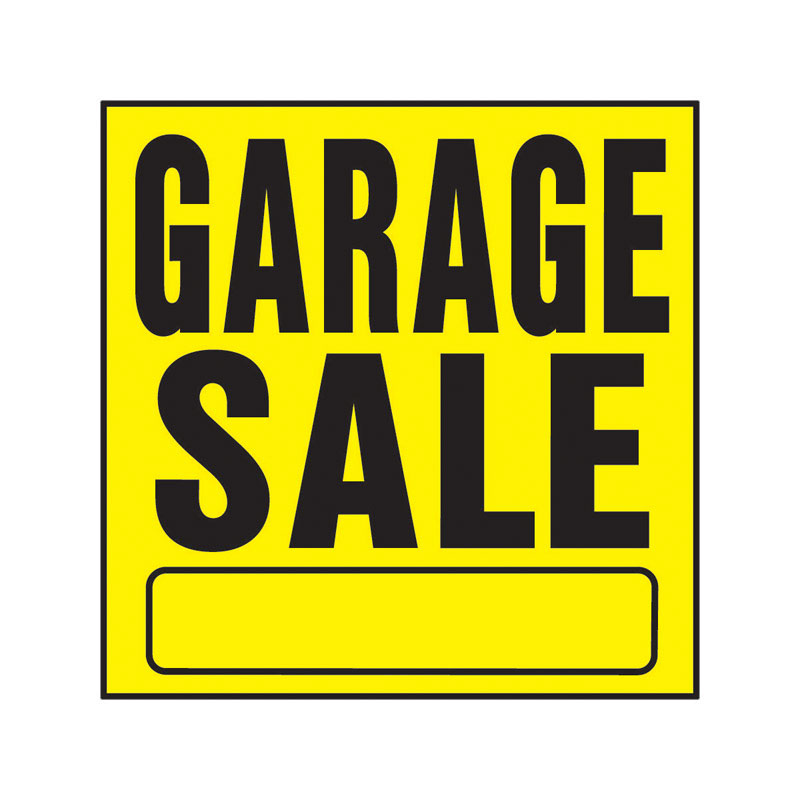 Hy-Ko  English  11 in. H x 11 in. W Sign  Garage Sale  Plastic