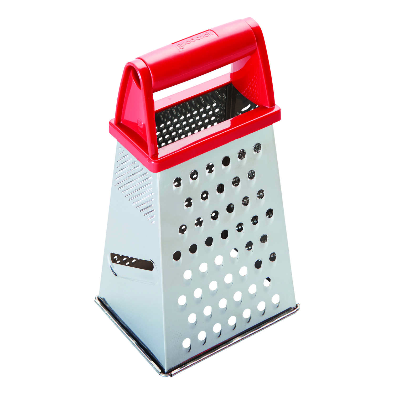 Good Cook  Silver/Red  Box Grater