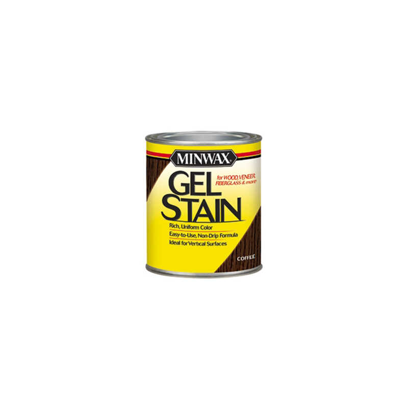 Minwax  Transparent  Low Luster  Black  Oil-Based  Gel Stain  0.5 pt.