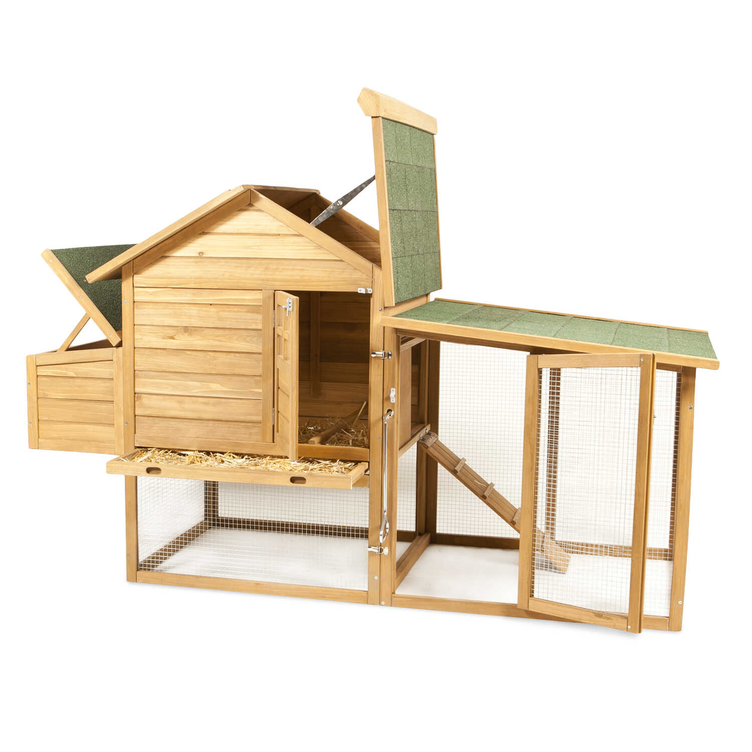 Aspen Pet  2-4 Hens  Wood  Peak Roof Chicken Coop