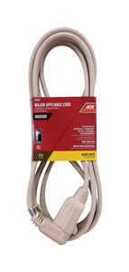 Ace  12/3 SPT-3  120 volt 9 ft. L Appliance Cord