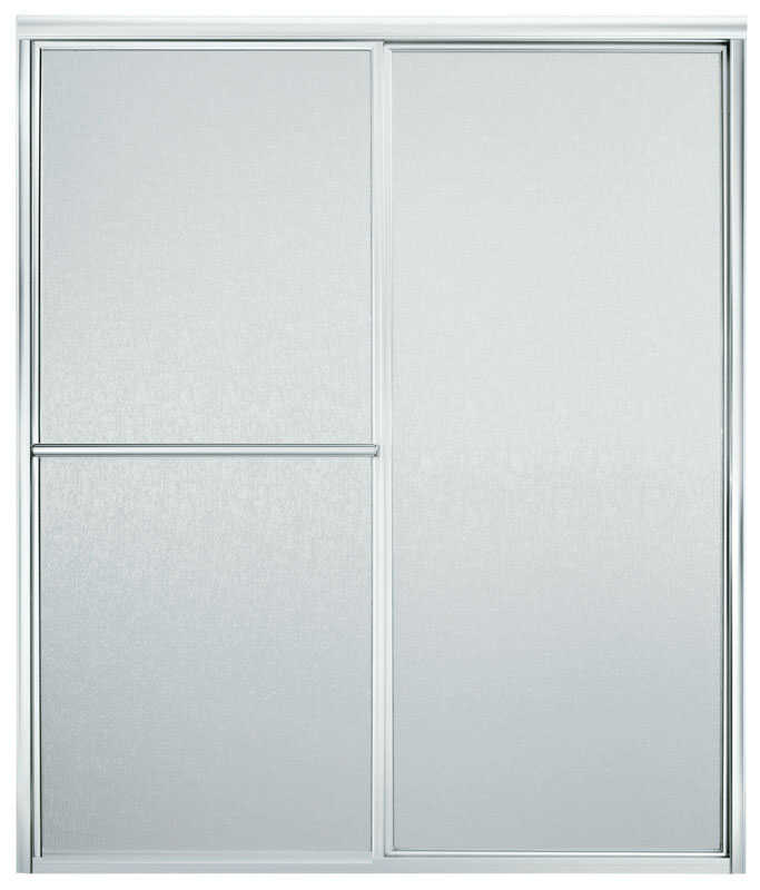 Sterling  Advantage  59.4 in. W x 70 in. H Framed  Silver  Shower Door