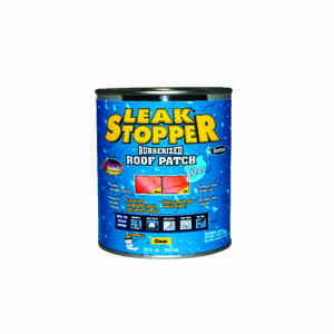 Leak Stopper  Gloss  Clear  Rubber  Leak Stopper Roof Patch  1 qt.