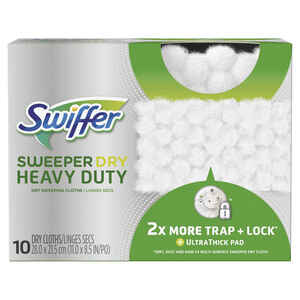 Swiffer  SweeperDry Heavy Duty  11 in. W x 8.5 in. L Refill Pad  Cloth  10 pk