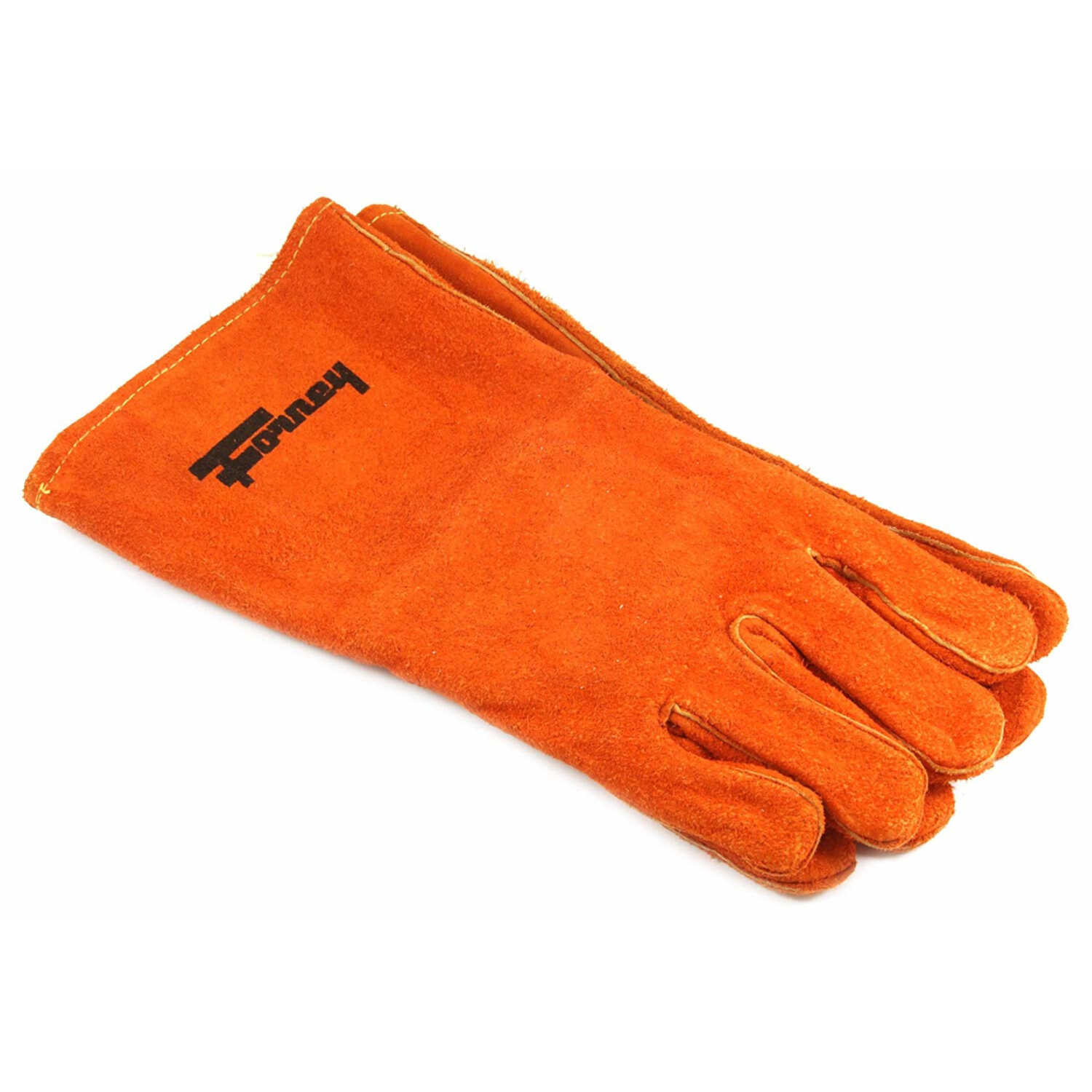 Forney  14 in. Cowhide  Welding Gloves  Brown  L  1 pk