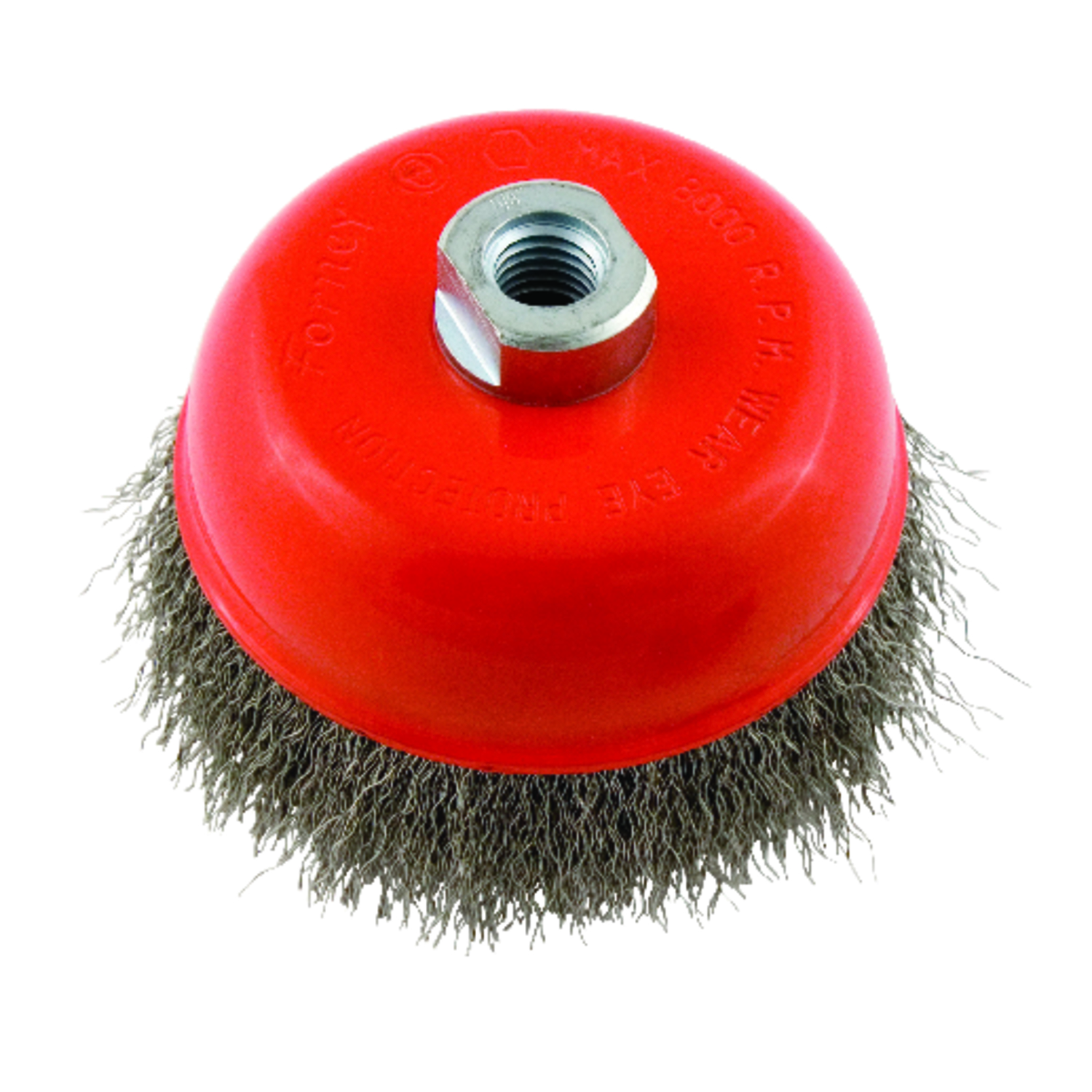 Forney  5 in. Dia. x 5/8 in.  Crimped  Crimped Wire Cup Brush  Steel  1 pc.