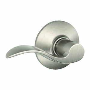 Schlage  Accent  Satin Nickel  Steel  Passage Lockset  ANSI Grade 2  1-3/4 in.