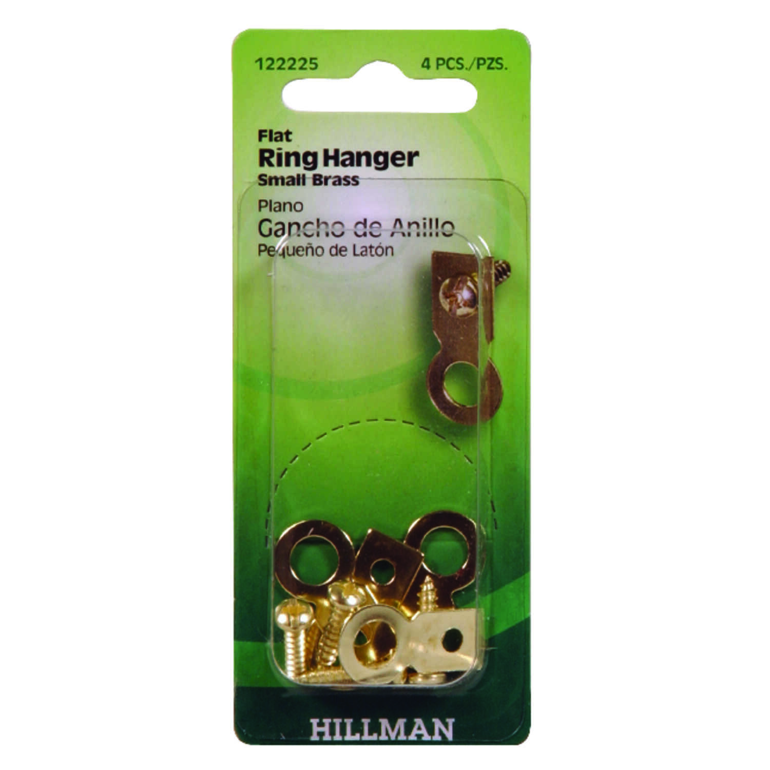 Hillman  AnchorWire  Steel-Plated  Large  Ring Hanger  4 pk Steel