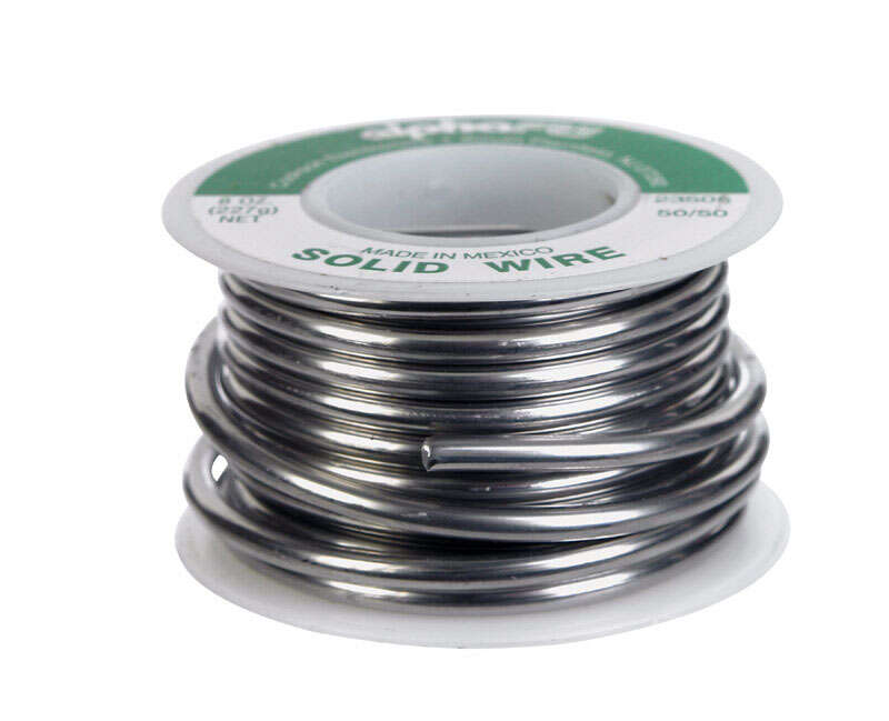 Alpha Fry  8 oz. Solid Wire Solder  Tin / Lead  0.125 in. Dia. 50/50