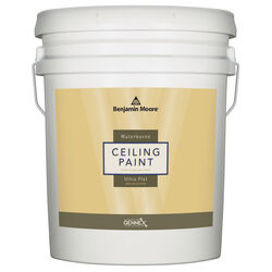 Benjamin Moore  Waterborne Ceiling Paint  Flat  White  Base 1  Ceiling Paint  Interior  5 gal.