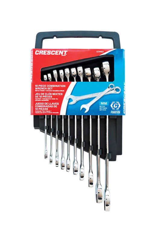 Crescent  Assorted   12 Point Metric  Wrench Set  10 pk
