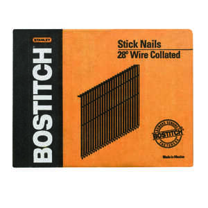 Stanley Bostitch  28 deg. 11 Ga. Smooth  Stick  Framing Nails  3 in. L 2,000 pc.