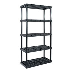 Gracious Living  Knect-A-Shelf  72 in. H x 36 in. W x 18 in. D Resin  Shelving Unit