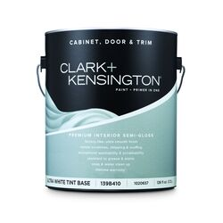 Clark+Kensington  Semi-Gloss  Tint Base  Ultra White Base  Premium Cabinet, Door & Trim Paint  Inter