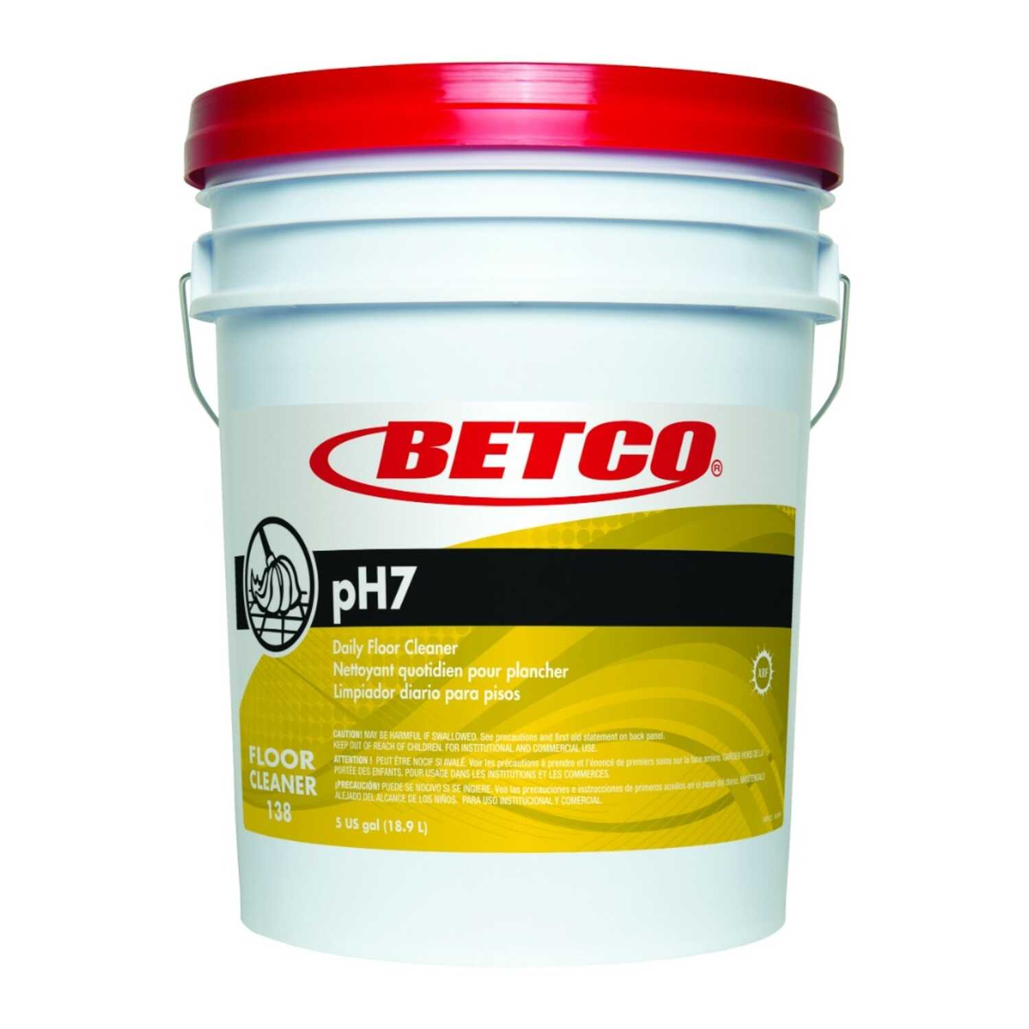 Betco  pH7  Lemon Scent Floor Cleaner  5 gal. Liquid