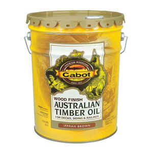 Cabot  Transparent  Jarrah Brown  Natural Oil/Waterborne Hybrid  Australian Timber Oil  5 gal.