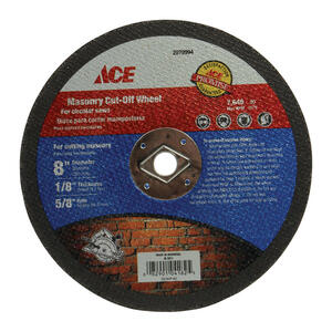 Ace  8 in. Silicon Carbide  Masonry Cut-Off Blade  1/8 in. thick  x 5/8 in.  1 pc.