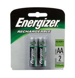 Energizer  AA  NiMH  NH15BP-2  2  Rechargeable Batteries