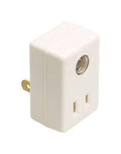 Amertac  White  Plug In Light Control  1 pk Photoelectric