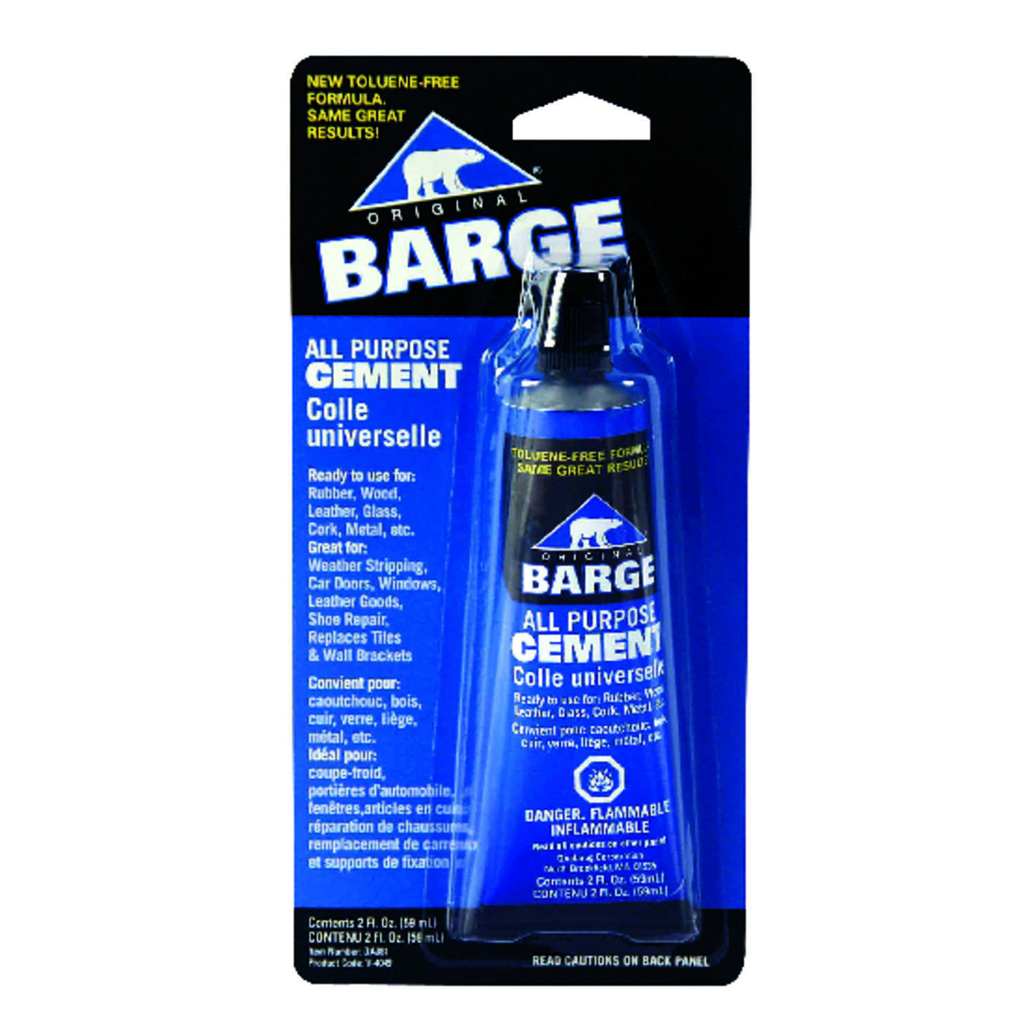 Barge High Strength Cement All-Purpose Cement 2 oz  - Ace