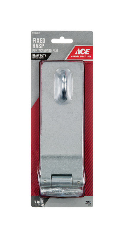 Ace  Zinc  7 in. L Fixed Staple Safety Hasp
