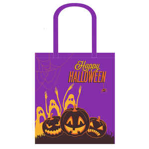 Ace  Halloween  16-1/2 in. H x 14 in. W x 7 in. L Reusable Shopping Bag