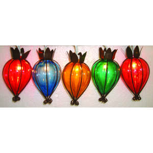 Living Accents  Teardrop Globe  Multicolored  Light Set  7.5 ft.